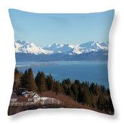 Kachemak Bay And Homer Alaska Throw Pillow