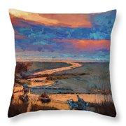 Kalaloch Creek 54 Throw Pillow