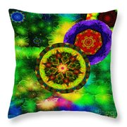 Kaleidoscope Moon For Children Gone To Soon Number - 3 Intensified  Throw Pillow