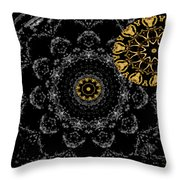 Kaleidoscope Moon For Children Gone Too Soon Number 2 - Faces And Flowers Throw Pillow