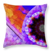 Kaleidoscope Moon For Children Gone Too Soon Number - 5 Flame And Flower  Throw Pillow