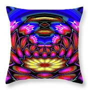 Kaleidoscopic Krystal Ball Throw Pillow
