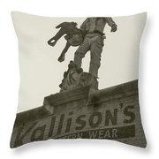 Kallison Cowboy Still Stands In San Antonio Throw Pillow