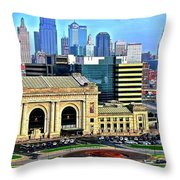 Kansas City 2019 Throw Pillow