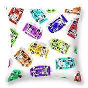 Karting Patterns Throw Pillow