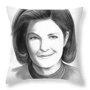 Kate Mulgrew Throw Pillow