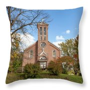 Kateri Tekakwitha Center And St. Joseph Chapel Throw Pillow by Fran Riley