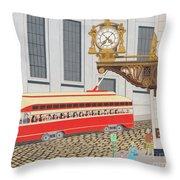 Kaufmann Clock Throw Pillow by John Wiegand