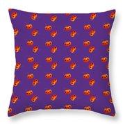 Kawaii Pumpkin Purple Throw Pillow