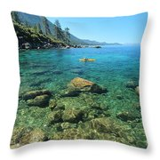 Kayaker's Bliss  Throw Pillow by Sean Sarsfield