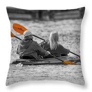 Kayaking Along The Magothy Throw Pillow