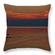 Kayak's Sunset Paradise Throw Pillow
