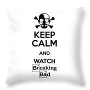 Keep Calm Breaking Bad Throw Pillow