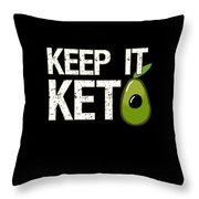 Keep It Keto Throw Pillow