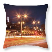 Keep On Moving Throw Pillow