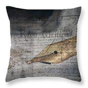 Keep Writing Throw Pillow