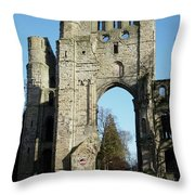 Kelso Abbey Ruin Throw Pillow
