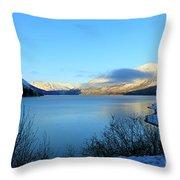 Kenai Lake Primrose Kenai Peninsula Alaska Throw Pillow