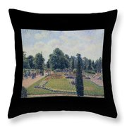 Kew Gardens - Path Between The Pond And The Palm House, 1892 Throw Pillow