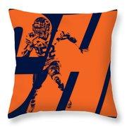 Khalil Mack Chicago Bears City Art Throw Pillow