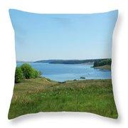 Kielder Water In Northumberland Throw Pillow