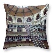 Kilmainham Goal Interior Six Throw Pillow