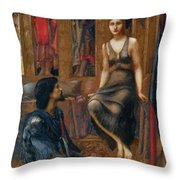 King Cophetua And The Beggar Maid 1884 Throw Pillow