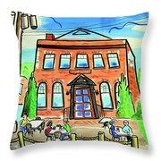 King's Arms Pub Throw Pillow