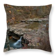 Kings River Waterfall Throw Pillow