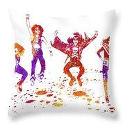 Kiss Band Watercolor Splatter 01 Throw Pillow