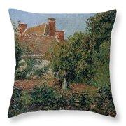 Kitchen Garden In Eragny, Afternoon, 1901 Throw Pillow