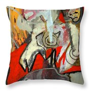 Knight And Fish Throw Pillow