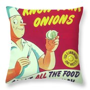 Know Your Onions Throw Pillow