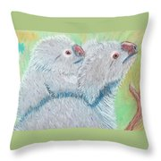 Koala With Baby - Pastel Wildlife Painting Throw Pillow