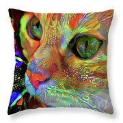 Koko The Orange Cat Throw Pillow