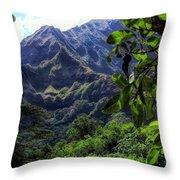 Ko'olau Peak Throw Pillow