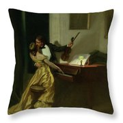 Kreutzer Sonata, 19th Century Throw Pillow