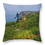 Crimea View, Fiolent Throw Pillow
