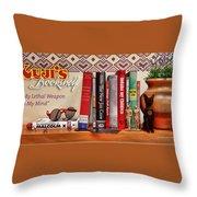 Kuji's Bookshelf Throw Pillow