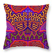 Kuna Butterfly Throw Pillow