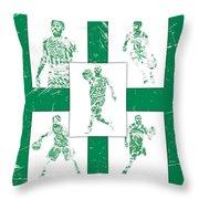 Kyrie Irving Boston Celtics Panel Pixel Art 1 Throw Pillow