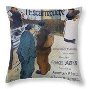 L Escarmouche, 1893 French Vintage Poster Throw Pillow