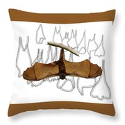 L Is For Little Red Flying Fox Throw Pillow