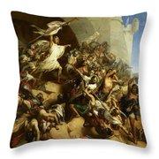 La Defense De L'ile De Rhodes Par Foulques De Villaret Throw Pillow