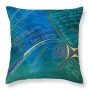 Labyrinth Of Words Throw Pillow