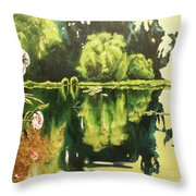 Lac D'or Throw Pillow