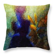 Lady In The Garden Throw Pillow