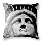 Lady Liberty In Black And White1 Throw Pillow