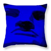Lady Liberty In Blue Throw Pillow