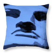 Lady Liberty In Cyan Throw Pillow